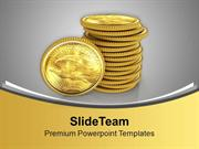 Collect Money With Bank Finance Theme PowerPoint Templates PPT Themes