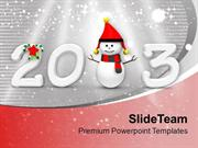 Enjoy Snow This New Year PowerPoint Templates PPT Themes And Graphics