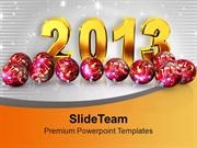 Express The Happiness Of New Year PowerPoint Templates PPT Themes And