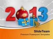 Gifts For This New Year 2013 PowerPoint Templates PPT Themes And Graph