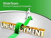 Jump The Unemployment PowerPoint Templates PPT Themes And Graphics 051