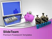 Save Money And Do Banking Online PowerPoint Templates PPT Themes And G