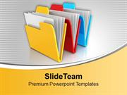 Save Your Data In Folders PowerPoint Templates PPT Themes And Graphics