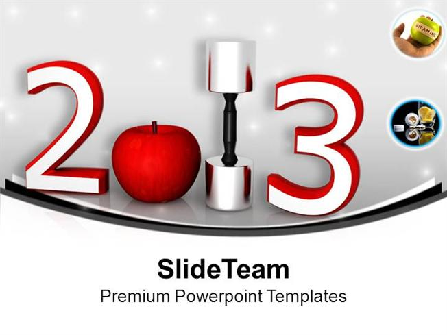 take a pledge for good health this new year powerpoint templates p authorstream
