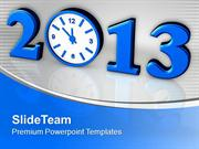 Time Concept With Clock New Year 2013 PowerPoint Templates PPT Themes