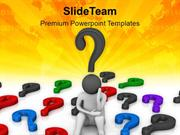 Confusion And Raising Questions In Mind PowerPoint Templates PPT Theme