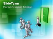 Door To New Opportunities And Success PowerPoint Templates PPT Themes