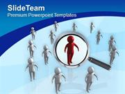 Focus On Team Leader Business Concept PowerPoint Templates PPT Themes