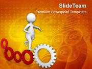Illustration Of Gear Mechanism And Development PowerPoint Templates PP