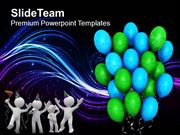 Its Party Time Celebration PowerPoint Templates PPT Themes And Graphic