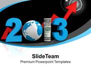 Business Growth This New Year PowerPoint Templates PPT Themes And Grap