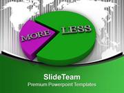 More And Less Marketing Theme PowerPoint Templates PPT Themes And Grap
