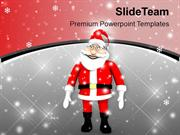 Santa With Gifts For Celebration PowerPoint Templates PPT Themes And G