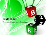 Alphabet Dice For Education Theme PowerPoint Templates PPT Themes And