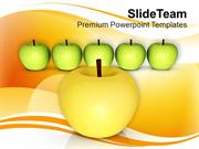 Apples Are Rich With Vitamins PowerPoint Templates PPT Themes And Grap