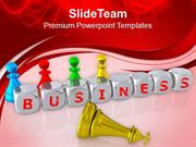Business Is Like Game Of Chess PowerPoint Templates PPT Themes And Gra