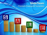 Enjoy Shopping In Sale Season PowerPoint Templates PPT Themes And Grap