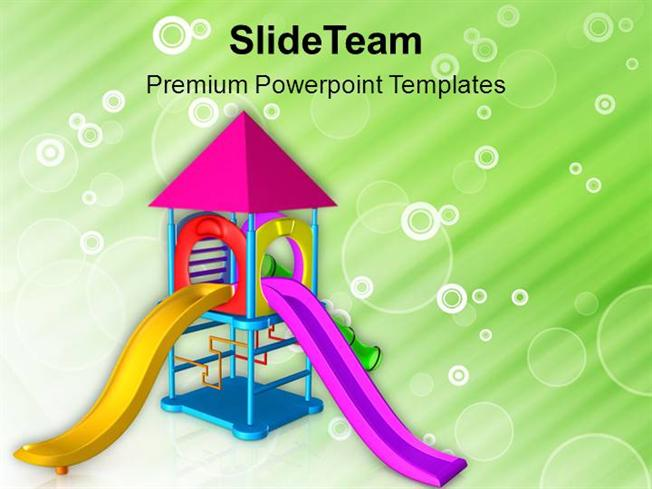 Let the Children Play in Playground Powerpoint Templates PPT Theme
