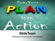 Put Your Plan Into Action Business Development PowerPoint Templates PP