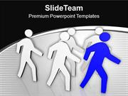 Team Follows The Leader Business Concept PowerPoint Templates PPT Them