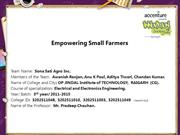 Empowering Small Farmers
