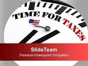 Time To File Your Tax Return PowerPoint Templates PPT Themes And Graph