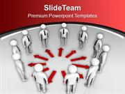 Working Towards Common Target PowerPoint Templates PPT Themes And Grap