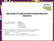 Sms alert system for new technologies and products