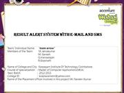 Result Alert System With E-mail and SMS