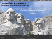 Great Leaders famous quotations