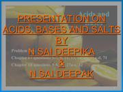 Acid Bases and Salts 17 Jul 13