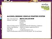 ALCOHOL SENSING VEHICLE STARTER SYSTEM