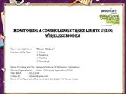 Monitoring &Controlling street lights using wireless modem
