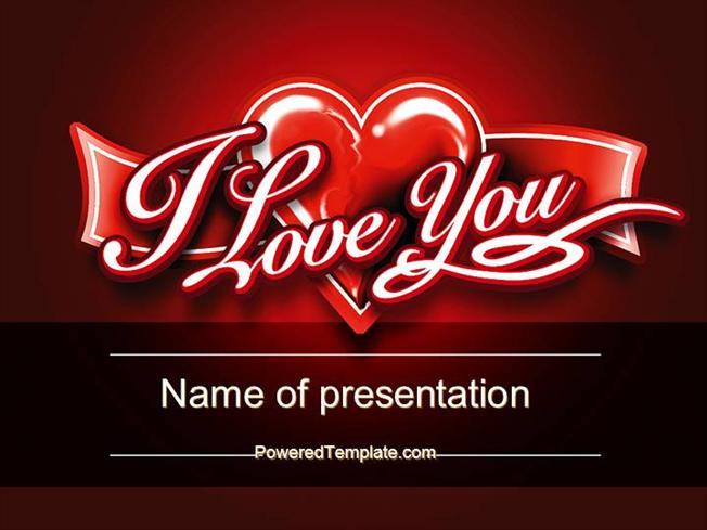 I Love You Powerpoint Template By Poweredtemplate Authorstream