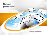 Puzzle Sphere PowerPoint Template by PoweredTemplate.com