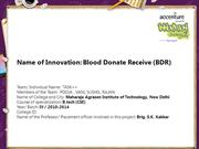 Blood Donate Receive (BDR)