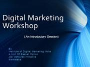 Digital Marketing Workshop Bangalore