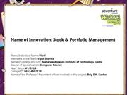 Stock & Portfolio Management