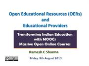 Open Educational Resources (OERs) and Educational Providers