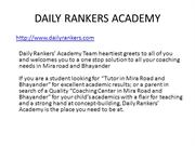 DAILY RANKERS ACADEMY