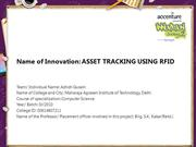 ASSET TRACKING USING RFID
