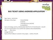 BUS TICKET USING ANDROID APPLICATION