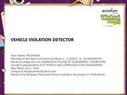 VEHICLE VIOLATION DETECTOR