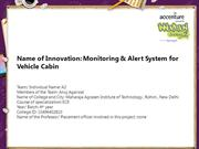 Monitoring & Alert System for Vehicle Cabin