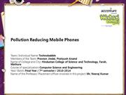 Pollution Reducing Mobile Phones