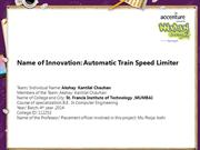 Automatic Train Speed Limiter