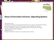 Universe  (Operating System)