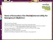 I Em Med(Internet utility for Emergency in Medicine )