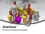 Save Global Currency For Better Future PowerPoint Templates PPT Backgr