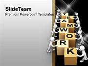 Teamwork Is Good For Business Growth PowerPoint Templates PPT Backgrou